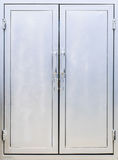 Metal cabine  doors and shelves Royalty Free Stock Photo
