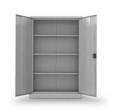 Metal cabinet for documents on a white background. Stock Photos