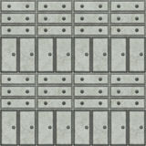 Metal cabinets. A seamless tiling pattern made from the fronts of metal cabinets Royalty Free Stock Images