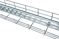 Metal cable tray Royalty Free Stock Image
