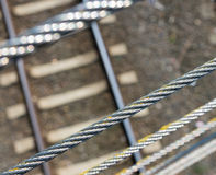 Metal cables Royalty Free Stock Images