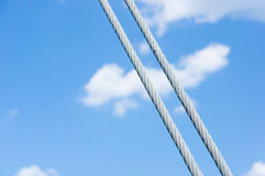 Metal cables Royalty Free Stock Photo