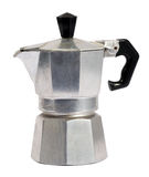Metal caffettiera or coffee percolator Stock Photos