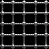 Metal cage. On black background Stock Images