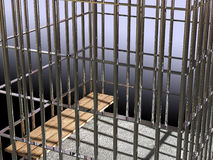 Metal cage 3d, concept of jail 02 Royalty Free Stock Photo