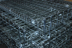 Metal Cage Close Up Stock Photos