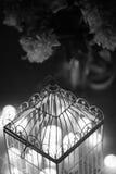 Metal cage-lantern Stock Photos
