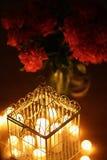 Metal cage-lantern Stock Photo
