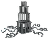 Metal Cage Stack Stock Images