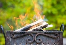 Metal campfire Royalty Free Stock Photos