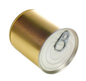 Metal can. Single metal can isolated on white background with clipping path Royalty Free Stock Photos