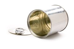 Metal can Stock Photo