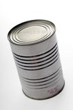 Metal can. On a white background royalty free stock image