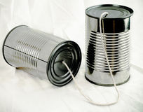 Metal Can Phone Stock Photography