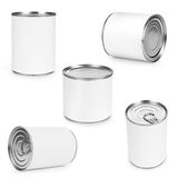 Metal can for preserved food. On white background Royalty Free Stock Image