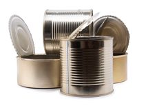 Metal can two Royalty Free Stock Image