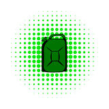 Metal canister comics icon Stock Photography