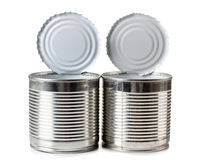 Metal cans Stock Images