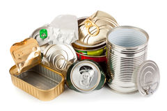 Metal cans Royalty Free Stock Images