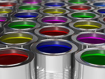 Metal cans Stock Photography
