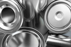 Metal cans for paint Royalty Free Stock Photo
