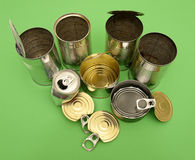 Metal cans for recycling Royalty Free Stock Photo