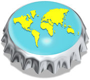 Metal cap world Stock Photo