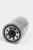 Metal car fuel filter isolated over white background Royalty Free Stock Photography