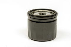 Metal car fuel filter isolated over white background Royalty Free Stock Photos