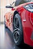 Metal car wheel,selectiva focus stock photography