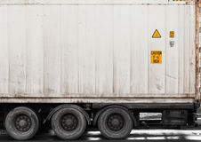 Metal cargo container on lorry Royalty Free Stock Photography