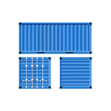 Metal cargo container. Royalty Free Stock Photo