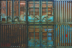Metal cargo containers Royalty Free Stock Photos