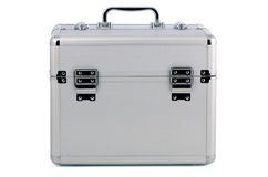 Metal case. On the white background Royalty Free Stock Images
