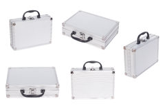 Metal case. Set of Metal case isolated on the white background Royalty Free Stock Photo
