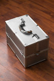 Metal case with combination lock. secret Royalty Free Stock Images