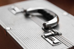 Metal case with combination lock. secret Royalty Free Stock Image