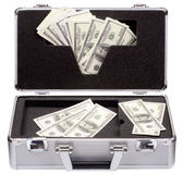 The metal case with dollars Royalty Free Stock Image