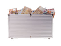Metal case filled with money Stock Photography