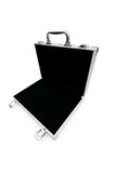 Metal case isolated. On the white background Stock Photos