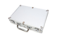 Metal case isolated. On the white background Royalty Free Stock Photo