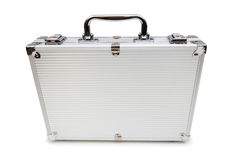 Metal case isolated. On the white background Royalty Free Stock Image