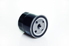 Metal oil filter Stock Image