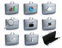 Metal cases Stock Image