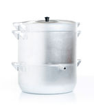 Metal casseroles with lid Stock Photography