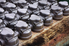 Metal castings Stock Images