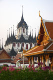 Metal castle. Is a religious sanctuary in Bangkok, Thailand royalty free stock images