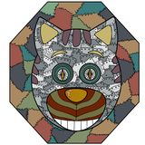 Metal cat abstract vector illustration on a dark background Royalty Free Stock Photos