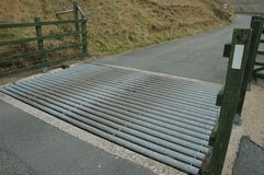 Metal cattle grid Royalty Free Stock Photography