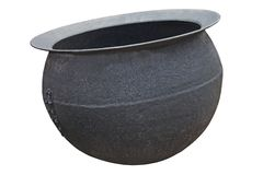 Metal Cauldron Stock Photo